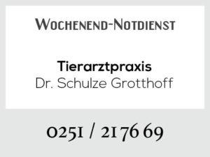 Tierarztpraxis Schulze Grotthoff - Wochenend-Notdienst @ Tierarztpraxis Dr. Schulze Grotthoff